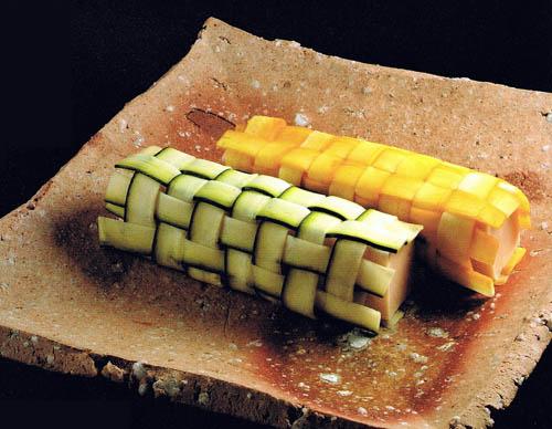 Vegetable carving zucchini - Decoratie snack ...