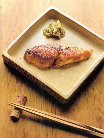 White Fish with Shallots and Miso Apricot Glaze - Bento.com
